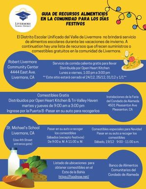Livermore School District_Holiday Community Food Resource Guide 12.2020_Spanish