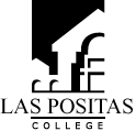 Las Positas College Black abd White logo with text